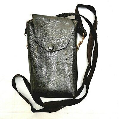 Vintage Black Leather Camera Case With Long Strap. Disposable Camera. Sunglasses • 8.99£