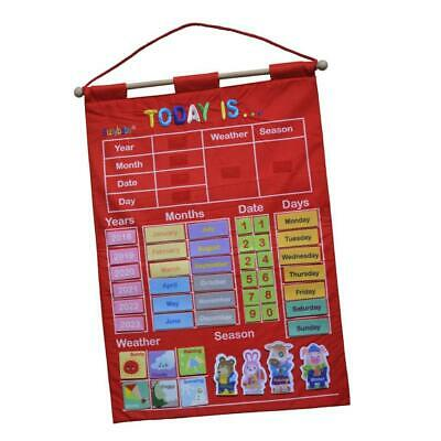 £16.30 • Buy My Calendar Wall Hanging Red Weather Month Year Chart For Kids Child Education