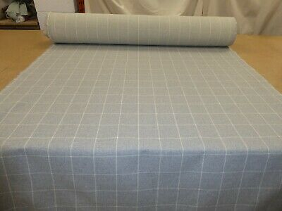 £11.99 • Buy DOVE GREY - Checked Wool Effect Weave Upholstery Fabric