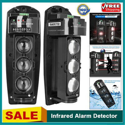£35.99 • Buy Triple Beam Infrared Alarm Detector Photoelectric LED Security Anti-theft System