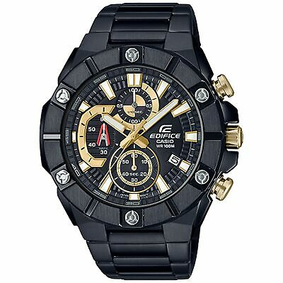 View Details Casio Edifice Quartz Black Dial IP Plated Bracelet Chrono Mens Watch RRP £350  • 99.99£