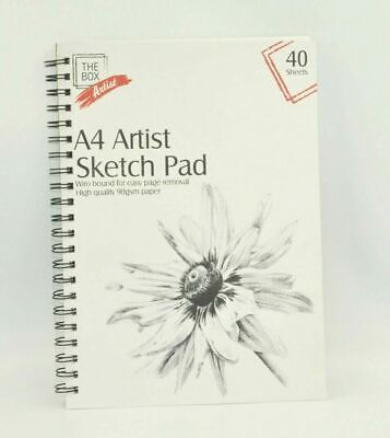 A4 Artists Sketch Pad Drawing Pads Artist Blank Books Spiral Bound 40 Page Book • 2.55£
