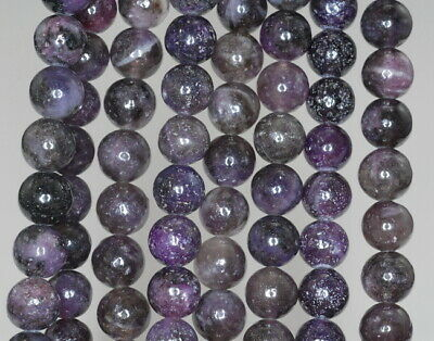 $6.99 • Buy 6MM Black Purple Lepidolite Gemstone Grd AB Round 16 Inch (90188377-650)