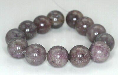 $9.99 • Buy 16MM Lavender Purple Lepidolite Gemstone Grd A Round 8 Inch (90187976-667)