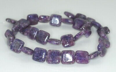 $11.99 • Buy 12X12MM Purple Lepidolite Gemstone Grd AA Square 15.5 Inch (90188348-670)