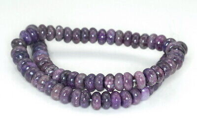 $11.99 • Buy 10X5-10X6MM Purple Lepidolite Gemstone Grd AA Rondelle 16 Inch (90187996-673)