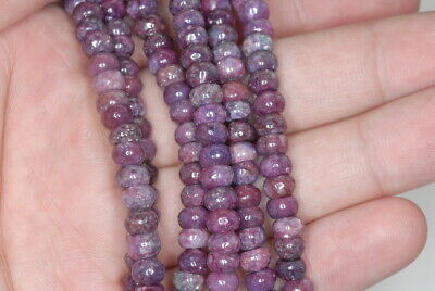 $8.99 • Buy 6X4MM Voilet Purple Lepidolite Gemstone Grd A Rondelle 16 Inch (90188002-673)