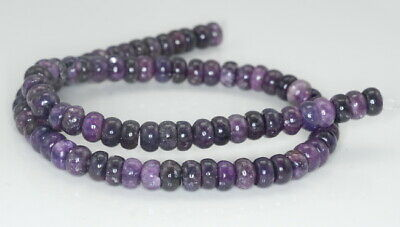 $10.99 • Buy 8X5-8X4MM Purple Lepidolite Gemstone Grd AA Rondelle 16 Inch (90187998-673)