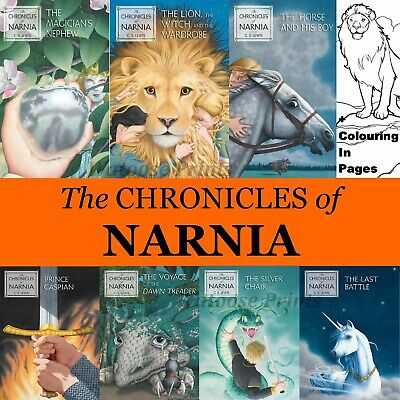AU15 • Buy The Chronicles Of Narnia 7 Books On CD Kindle Mobi Epub C S Lewis & Colouring In
