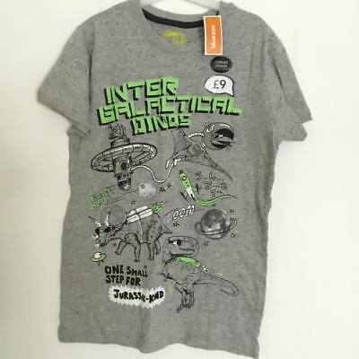 Bluezoo Intergalactic Dinosaur Top GREY - UK12-13 YEARS • 2.99£