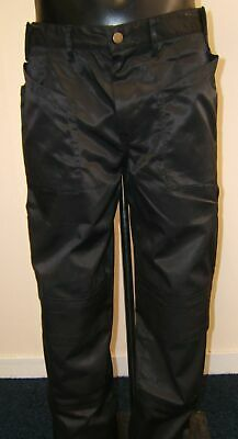 BLACK Heavy Duty Work Pants With Free Knee Pads Lots Of Sizes • 7.50£