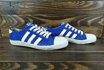 70`S / 80`S VINTAGE ADIDAS ADRIA SHOES Size 7 1/2 Blue White Made In Philippines • 99.99£