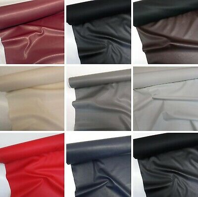Faux Leather Look Soft PVC Leathercloth Fabric Leatherette Vinyl, Upholstery • 1.99£
