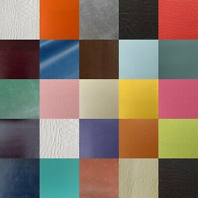 Heavy Duty Flame Proof Faux Leatherette Vinyl Leather PVC Upholstery Fabric • 2£
