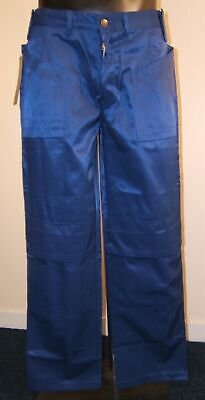 BLUE Heavy Duty Work Pants With Free Knee Pads Lots Of Sizes • 7£