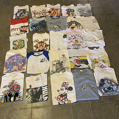 $ CDN305.48 • Buy Vintage Wholesale T Shirt 25 Lot 00s Bundle Cartoons Disney Nickelodeon Marvel