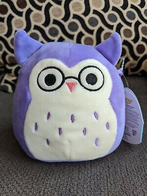 $ CDN15 • Buy Squishmallows 5  Inch Mini Holly Owl Glasses Exclusive HTF Squishmallow 2020