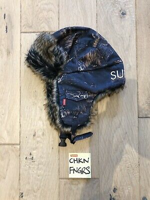 $ CDN229.58 • Buy SUPREME Supreme FW 2012 Ducks And Dogs Trooper Hat NAVY ONE SIZE FITS ALL