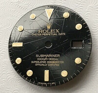 $ CDN1177.64 • Buy Vintage Genuine Rolex Submariner Spider Web Cream Tritium Watch Dial