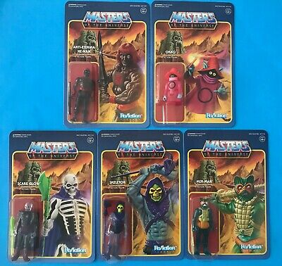 $149.79 • Buy Reaction Super 7 Masters Of The Universe Xmas Exclusive Clear Set Of 5