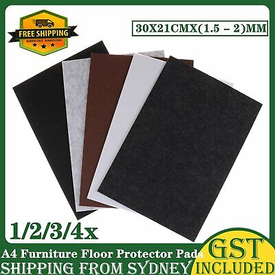 AU7.99 • Buy A4 Large Pieces Felt Furniture Floor Protector Pads Mar Self Adhesive Heavy Duty