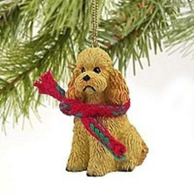£7.99 • Buy Apricot Poodle Christmas Tree Figurine Decoration/Ornament Dog Present/Gift