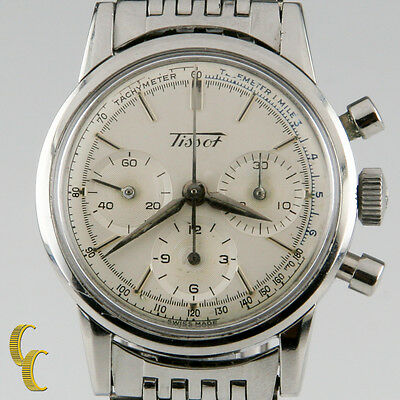 $ CDN4836.80 • Buy Tissot Chronograph MVMT 1281 Vintage Stainless Steel Men's Watch With Subdials