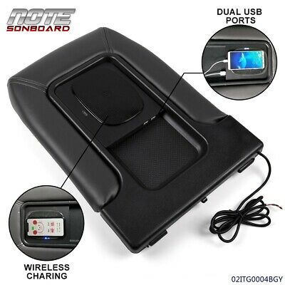 $58.73 • Buy For 01-07 Chevy Silverado USB Port Wireless Charging Armrest Center Console Lid
