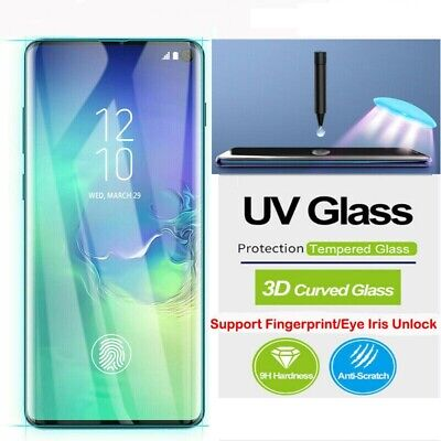 AU9.95 • Buy Samsung Galaxy Note 20 S20 Ultra S10 9 8 Plus UV Tempered Glass Screen Protector