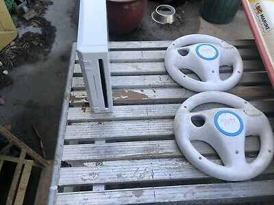 AU200 • Buy Nintendo Wii White Console With Steering Wheels, Wii Board And Original Box