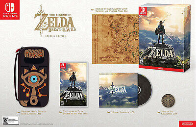 AU300 • Buy The Legend Of Zelda: Breath Of The Wild Special Edition (US. IMPORT) BRAND NEW.