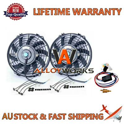 AU98 • Buy 2PCS 9  12V FANS+MOUNTING PULL/PUSH RADIATOR Cooling Electirc Thermo Fan+Relay