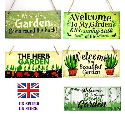 £3.85 • Buy Welcome We're In The Garden Wooden Plaque Sign Friendship Party BBQ Bar Spring