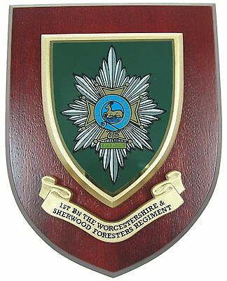 1st Btn Worcester And Sherwood Foresters Classic   Regimental Mess Plaque • 19.99£
