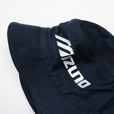 Navy & White MIZUNO Spell Out Bucket Hat Rave Festival Indie Stone Roses | S/M • 15£