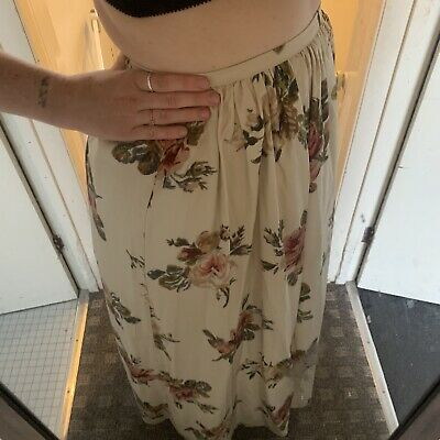 Laura Ashley Silk Floral Full Length Skirt  Uk12 New Without Tags, Lined /net • 60£
