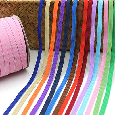 AU14.93 • Buy 6mm Flat Elastic Band Stretch Cord Rope Costume DIY Woven Sewing Craft Trouser