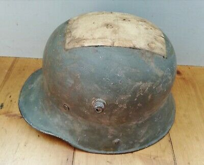 M16 WW1 German Helmet With Postcard Post Back Label • 565£