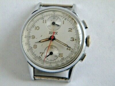 $ CDN826.60 • Buy Vintage Hugex Chronograph Valjoux 77 Military Original Dial Ca 1940