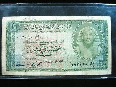 $22.90 • Buy Egypt 25 Piastre 1955 P28 Sharp 80# Bank Currency Money Banknote