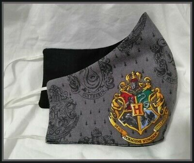 AU10 • Buy Face Mask - Harry Potter Crest - Adult - Washable -Hand Made In Australia