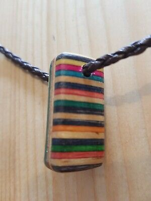 £5 • Buy Boho Indie Wooden Rainbow Necklace NEW