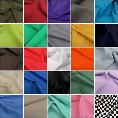 £7.99 • Buy Plain Thick Cotton Drill Workwear Twill Fabric Superior Quality 60  150 Cms Wide