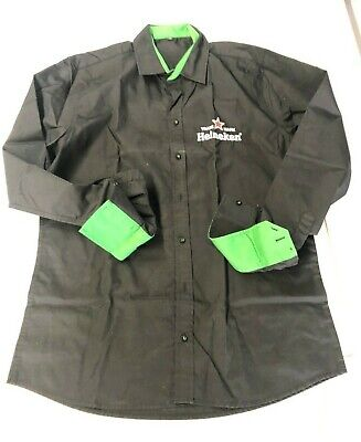 Heineken Blouse Long Sleeve Long Sleeve Black Womens Blouse Size Large L • 13.53£
