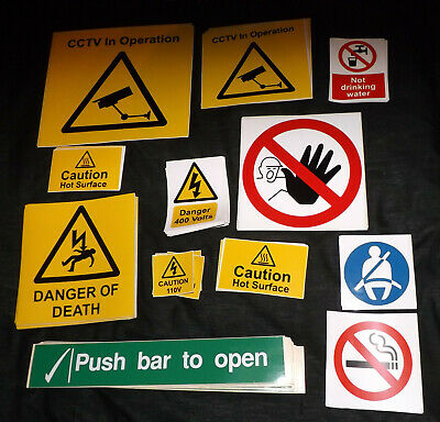 £2.50 • Buy Warning/Safety Stickers