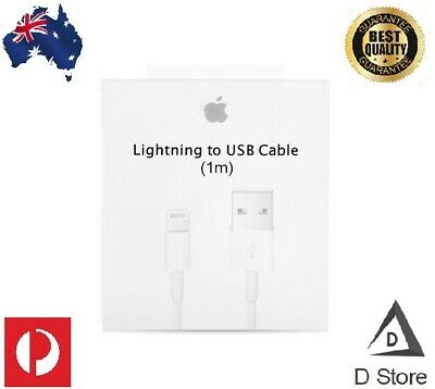 AU9.99 • Buy Genuine Apple USB Lightning Charging Cable 1M 2M For IPhone 11 XR XS Max 8 7 6 5