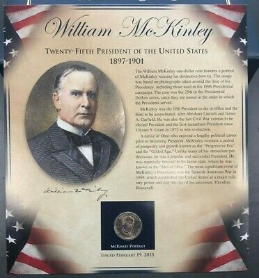 $9.95 • Buy PCS United States Presidents Coin Collection - William McKinley -Coin And Stamps