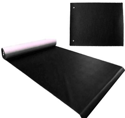 New Black Heavy Duty Upholstery Faux Leather/ Vinyl/fabric/leatherette/material • 2£