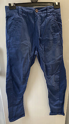 Boys Next Blue Skinny Twist Chino Trousers Aged 9 Pockets BNWT (B16) • 7.95£