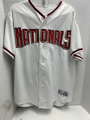 $29.99 • Buy Majestic Authentic MLB Jersey Washington Nationals Team White Cool Base XL Tags